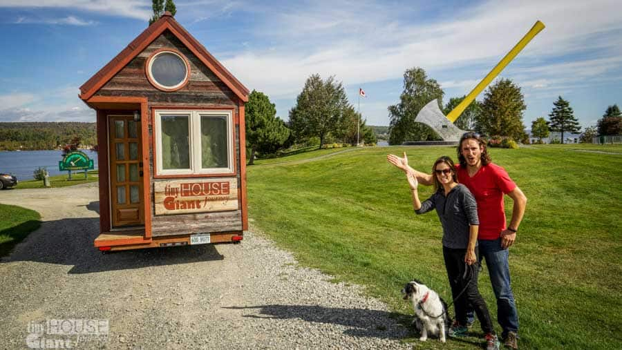 a couple of years ago jenna and guillaume quit their jobs built a tiny house on wheels and are now traveling around north america to pursue their dream - Largest Tiny House