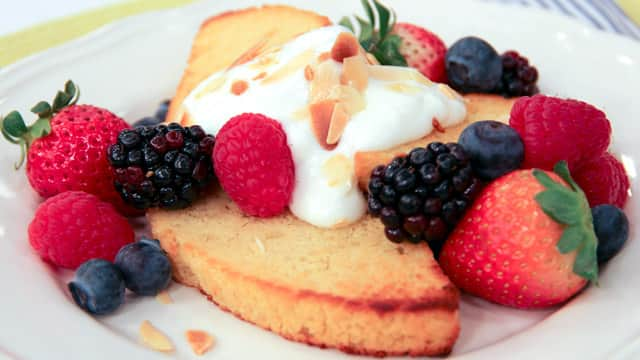 Warm Lemon Slice with Yogurt and Fresh Fruit by Chef Voula Halliday