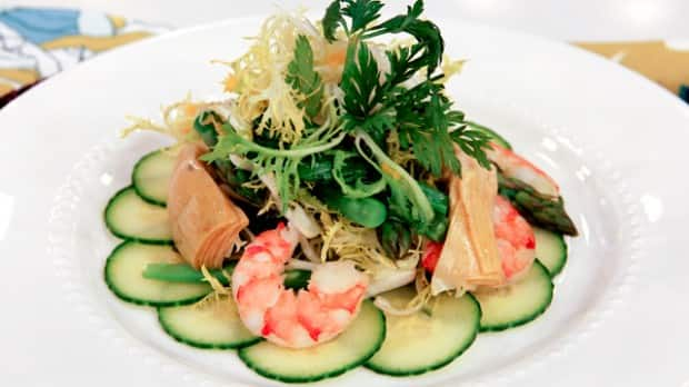 Artichoke, Asparagus & Shrimp Salad - Steven and Chris