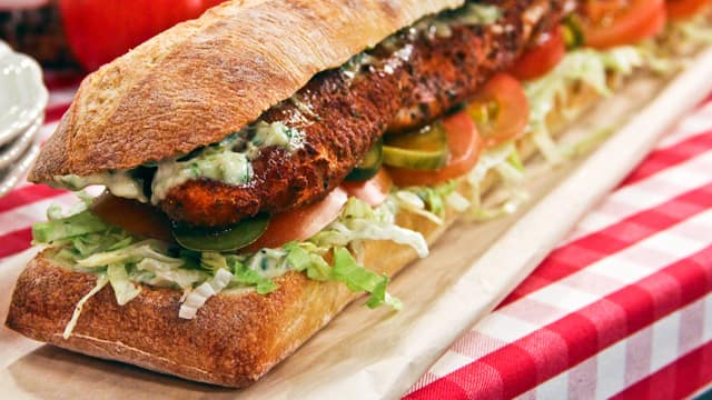 Catfish sandwiches are a Louisiana classic and one of Chef Lynn Crawford's favourites! Here is Chef Lynn's Blackened Catfish Po' Boys.