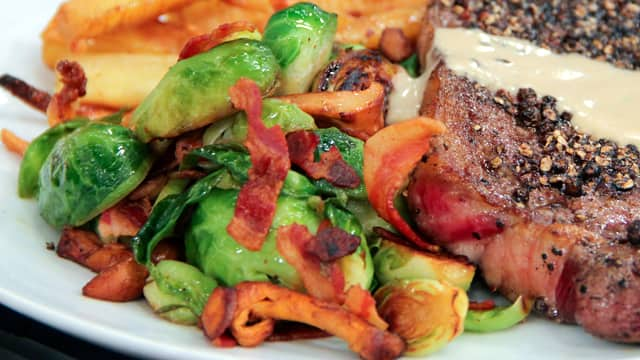 Brussels Sprouts with Chanterelles