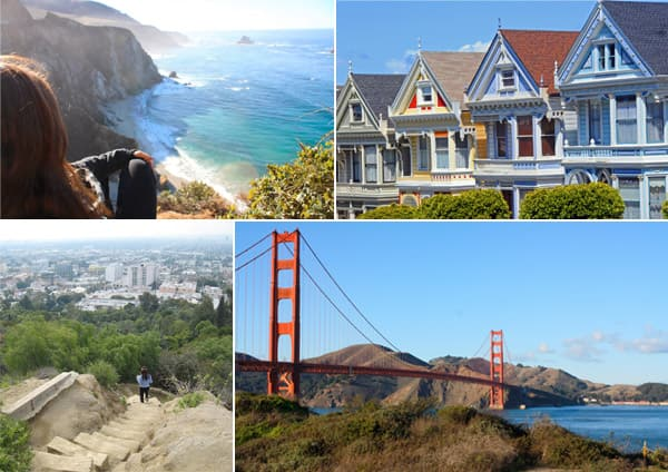 photo collage of things to do on the Pacific coast