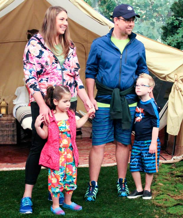 Fashion for the family on a camping vacation