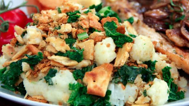 Cauliflower Kale Gratin