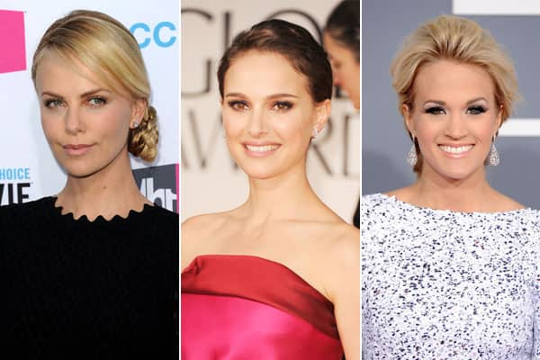 Charlize Theron, Natalie Portman and Carrie Underwood.