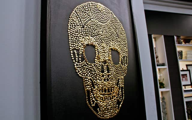 Diy wall art that makes a statement steven and chris diy wall art brass skull solutioingenieria Image collections