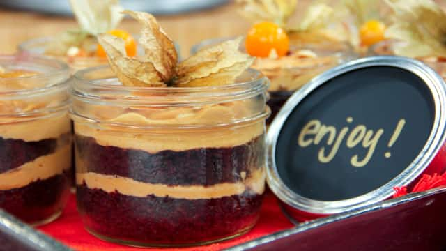 Chocolate Dulce de Leche Cakes in a Jar by Chef Joshna Maharaj