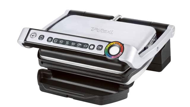 T-Fal OptiGrill in stainless steel.