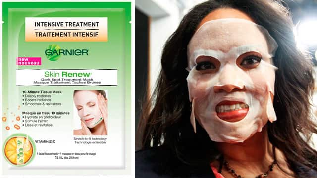 Cher is testing the Garnier Skin Renew Treatment Mask.