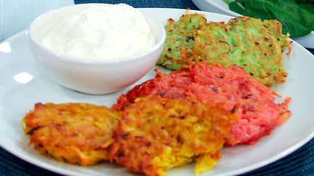 Coloured Potato Latkes