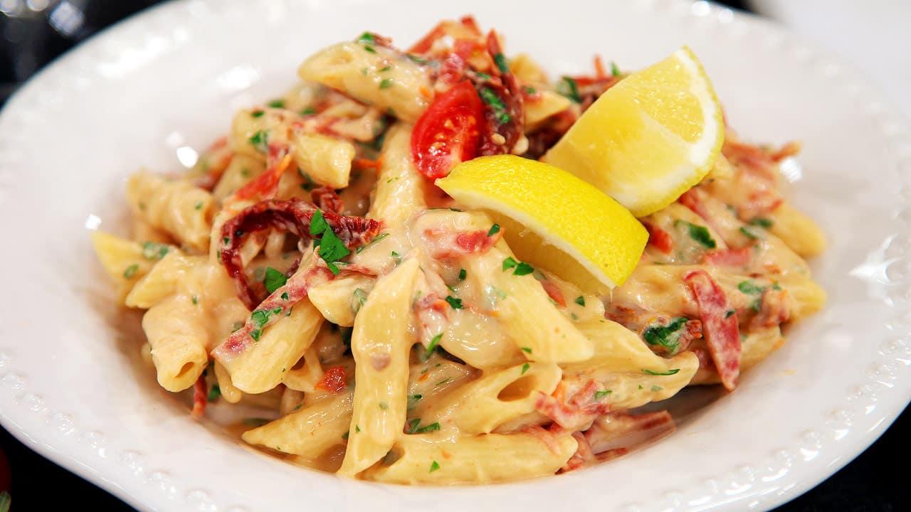 Creamy Calabrese And Sun Dried Tomato Pasta