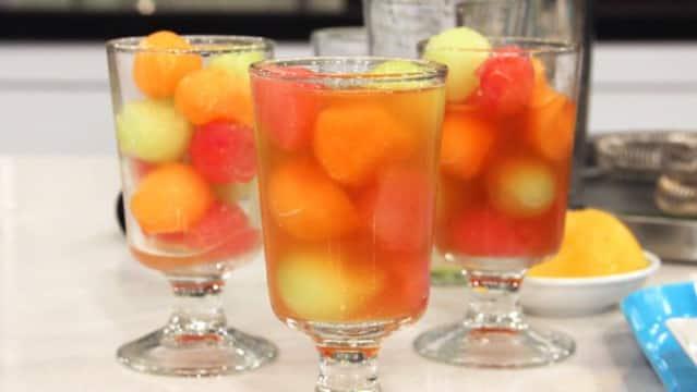 Simon Ho's cucumber-melon cocktail.