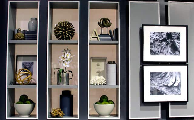 Curated shelves on the Steven and Chris set