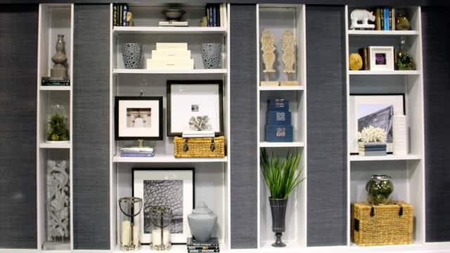 Curated shelving on the Steven and Chris set