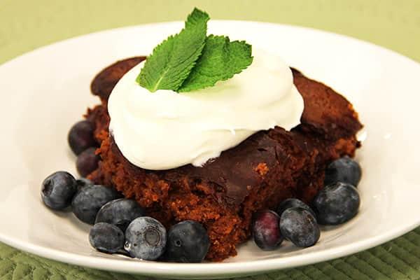 Devil's food pudding cake.