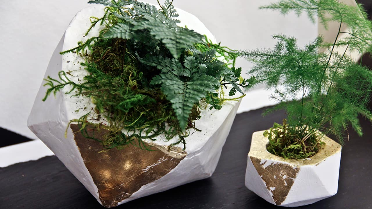 DIY Geometric U201cConcreteu201d Planter   Steven And Chris