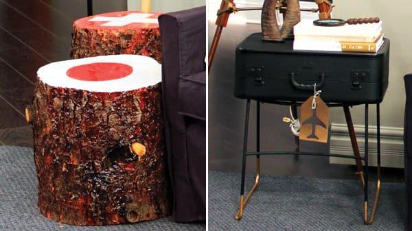 diy end tables steven and chris. Black Bedroom Furniture Sets. Home Design Ideas