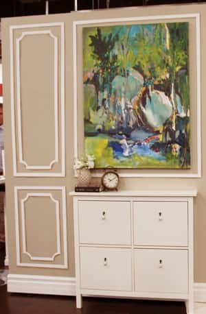 Diy painted faux mouldings steven and chris - How to paint decorative walls ...