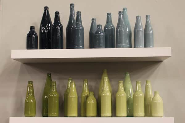 joel bray always manages to make a big impact on a small budgetand this diy is no exception all you need are some recycled glass bottles and your - How To Paint Glass Bottle