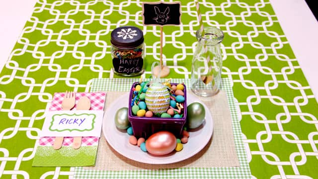 3 Happy Easter Place Settings - Steven and Chris