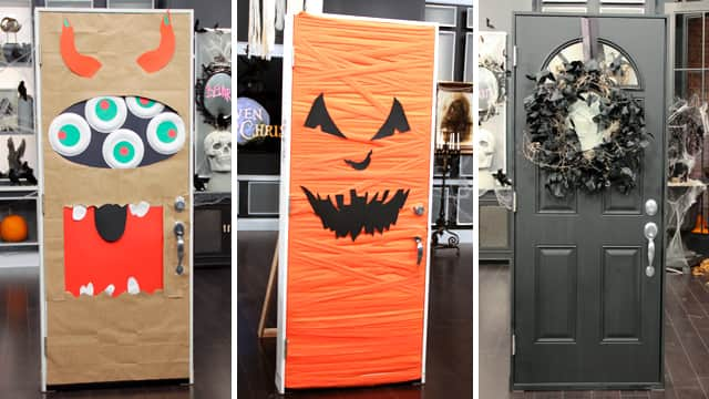 Easy Halloween Door Decor & Easy Halloween Door Decor - Steven and Chris