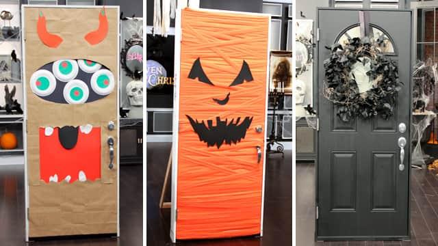 Easy Halloween Door Decor Steven And Chris
