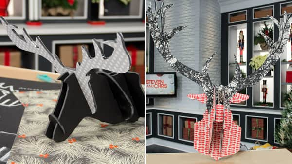 free cardboard taxidermy templates - festive deer diy steven and chris