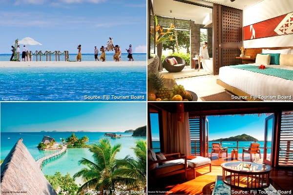 photo collage of activities to do in Fiji
