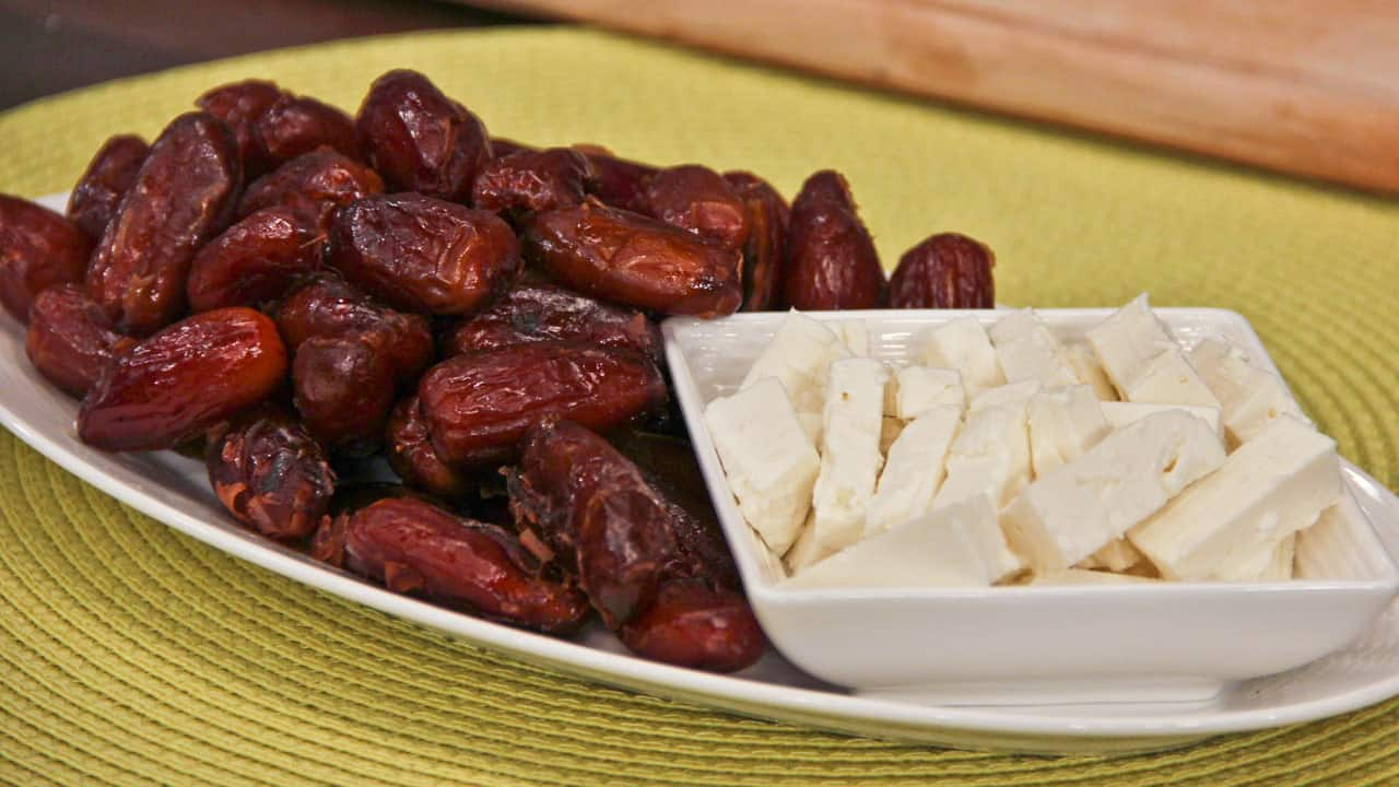 Morning Snack: Feta-Stuffed Dates