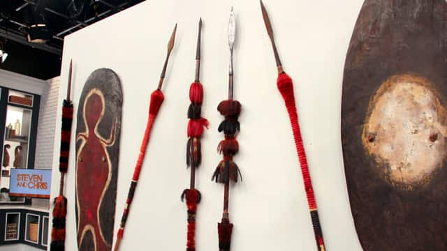 Ceremonial spears from Nagaland, India