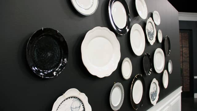 French Inspired Dining Room: DIY Plate Wall