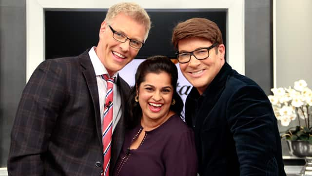 Frugalista Amrita Singh with Steven and Chris