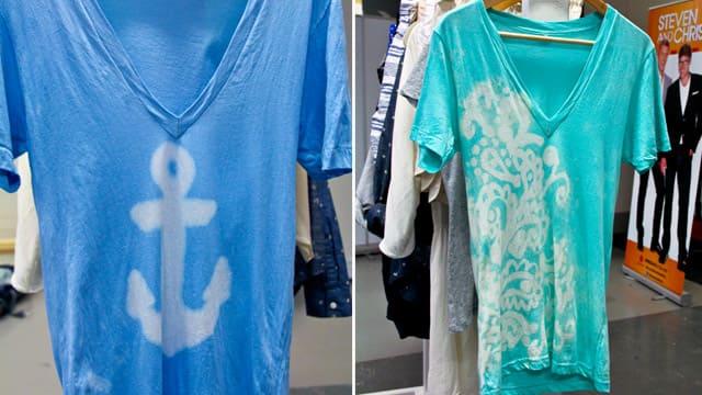 Bleach gel makes DIY tshirt designs