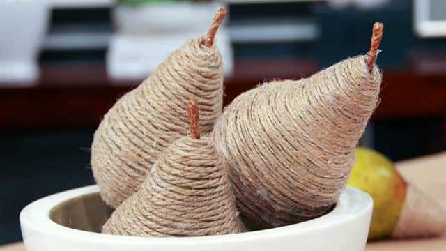 Twine-Wrapped Pears