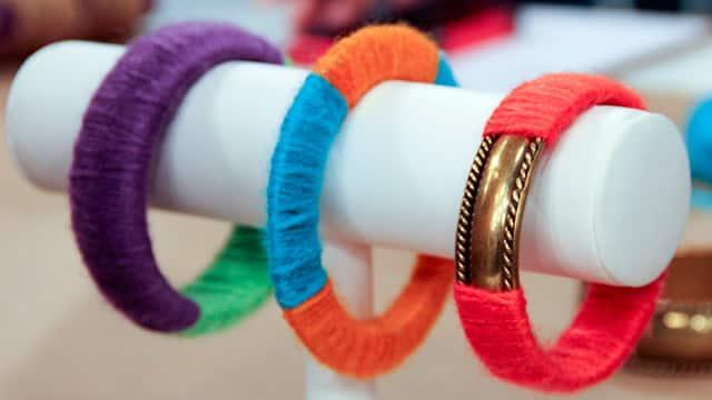 Twine-Wrapped Bracelets