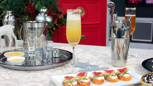 Golden Apple Holiday Cocktail