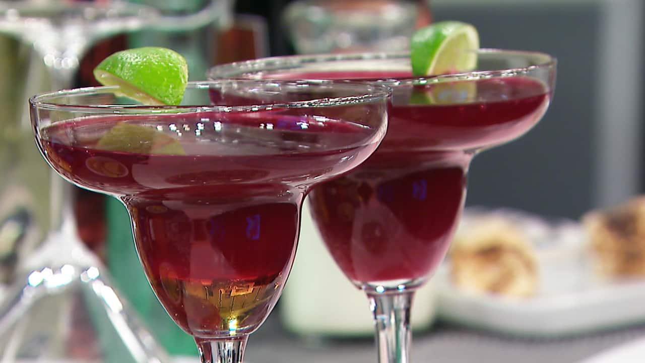 Haskaparita Cocktail with Haskap Berries