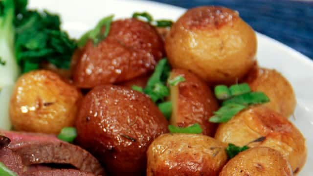 Herb Roasted Baby Potatoes by Chef Voula Halliday