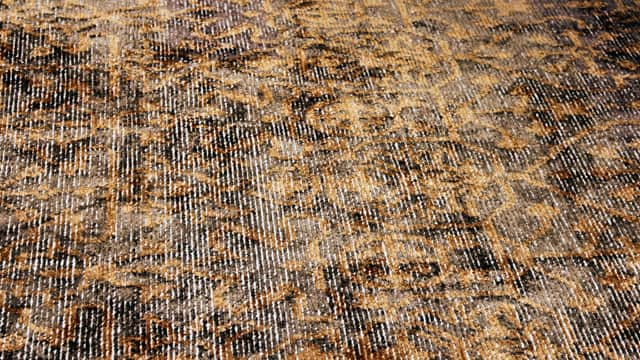 A Hand Spun Viscose And Wool Rug.