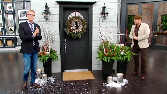 Modern Mercury Glass Doors for the Holidays