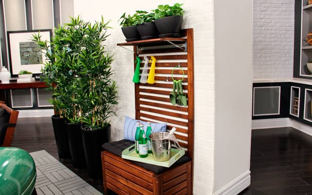 IKEA APPLARO bench for outdoor storage