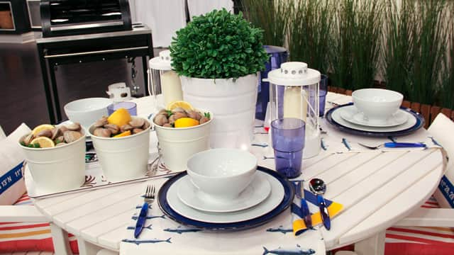 Fun nautical tableware
