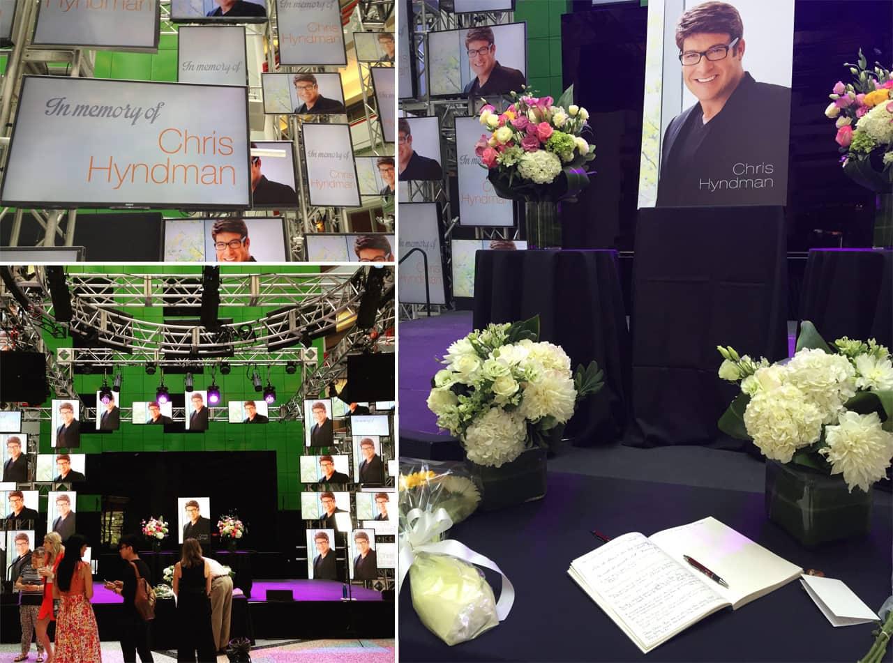 Chris hyndman hair piece - Cbc Made A Memorial For Christopher Hyndman In Their Toronto Location S Atrium