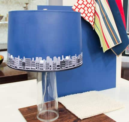 How to paint a lampshade steven and chris matchy lampshade mozeypictures Choice Image