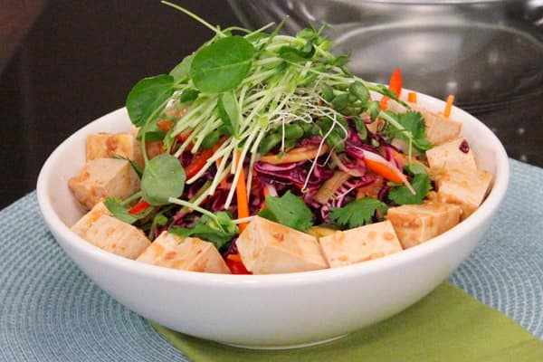 Low-Fat Asian Slaw With Tofu.