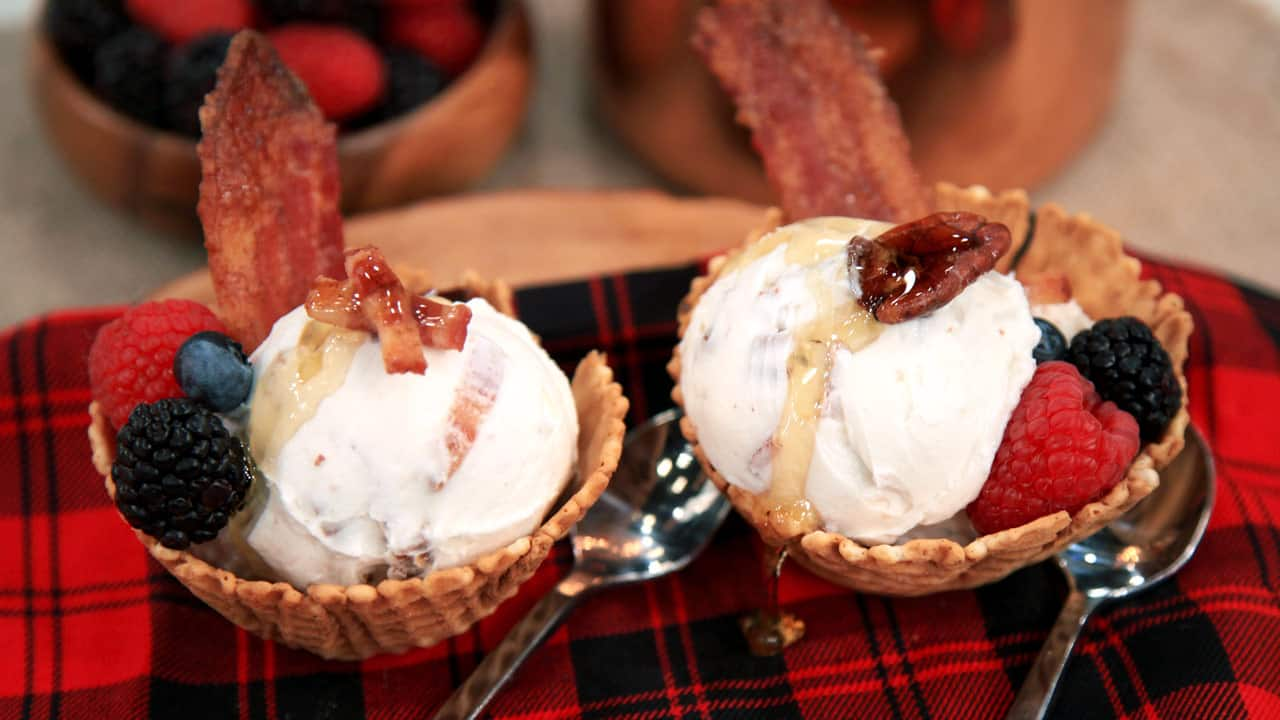 Maple Candied Bacon Ice Cream