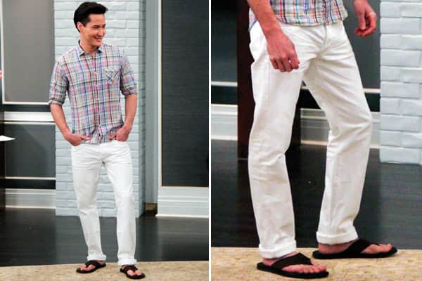 Men's Style Lesson: White Jeans