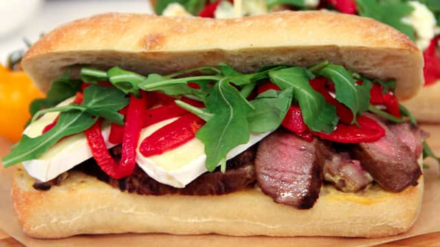 Miso Steak and Brie Sandwiches by Chef Voula Halliday