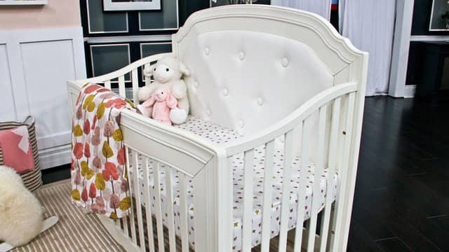 Simple white cribs are an investment for your child's room.