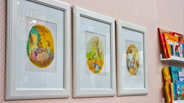Pulling pages from your favourite children's book and framing them is easy nursery DIY art.